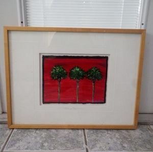 Palms in Red  , Artist Maria Reyes Jones